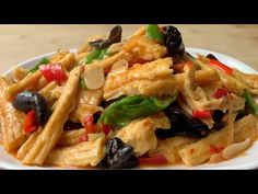 Tofu Dishes, Vegan Dishes, Vegetarian Recipes, Cooking Recipes, Healthy Recipes, Healthy Food, Bean Curd Skin, Asian Recipes, Recipes