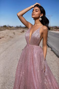 gorgeous gowns Get ready to be a total show-stopper in the beautiful Electra Glitter Gown. This gown is everything every prom girl wants - a dreamy, sparkly gown showing just the right Pretty Prom Dresses, Grad Dresses, Dance Dresses, Ball Dresses, Elegant Dresses, Homecoming Dresses, Cute Dresses, Beautiful Dresses, Ball Gowns