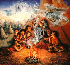 The Storyteller, a painting by Josephine Wall (1993)
