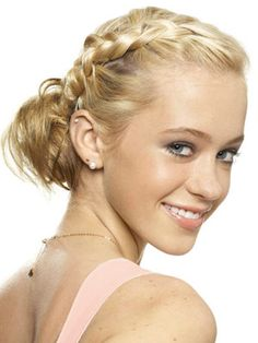 I'm all about cute braids for the summer. This braided updo is perfect to ward off that summer heat.