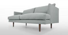 Carl Isle Gray Loveseat - Loveseats - Bryght | Modern, Mid-Century and Scandinavian Furniture (999)