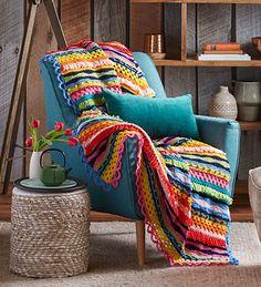 Stunning Rainbow Crochet Winter Throw – Better Homes and Gardens Shop