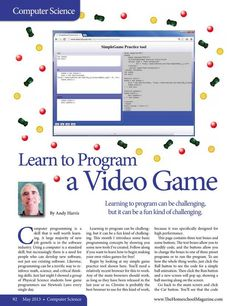 Learn to Program a Video Game The Homeschool Magazine - May 2013 - Page 92-93