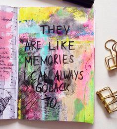 @diekleineriet | Instagram | Season of Music | Get Messy Art Journal