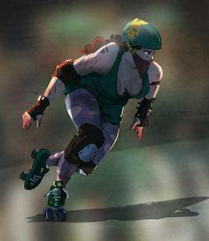 Let's talk about roller derby Derby Games, Roller Derby Girls, Quad Skates, Skate Art, Recreational Activities, World Of Sports, Pulp Art, Roller Skating, Rollers