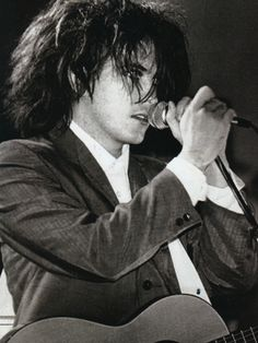 A very young Robert Smith from The Cure. You can't be a lil' goth girl and not worship this band ;)