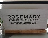 Rosemary Seed Sign
