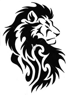 Tribal Lion Clipart
