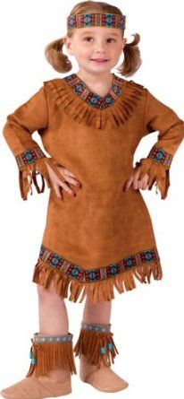 Girls Native American Indian Halloween Costume...... almost identical to an old costume of mine ... i was trying to be Pocahontas!