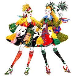 BFF FOREVER -  Fashion illustration by Sunny Gu #fashion #illustration #fashionillustration #sunnygu