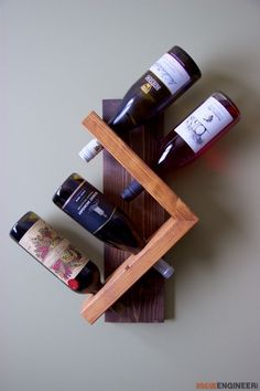 diy-wine-bottle-holder| Free Plan | | rogueengineer.com #DiyWineBottleHolder#ManCaveDIYPlans