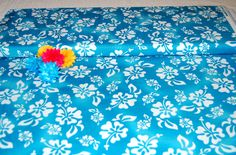 Hawaiian Turquoise Fabric BTY - Loralie Designs High Quality Fabric by AllenHeart on Etsy
