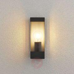 Lindby Tilian outdoor wall light, angular, E27 | Lights.ie