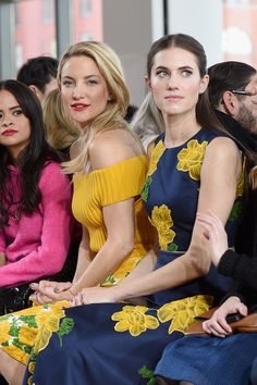 Kate Hudson's Most Glamorous Red Carpet Moments   Front Row at Michael Kors' Fall 2015 Runway Show with Gal Pal Allison Williams