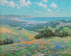 Granville Redmond  (1871-1935) — Malibu Coast Spring, 1929  (1000×798)