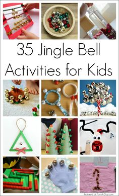 35 Jingle Bell Christmas Activities for Kids - sensory play, music, math, crafts, and more. Perfect for a preschool unit. Christmas Activities For Kids, Preschool Christmas, Christmas Music, Christmas Bells, Preschool Crafts, Christmas Themes, Christmas Holidays, Christmas Decorations, Winter Activities