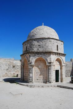 Chapel of Ascension (Jerusalem, Israel):    An octagon chapel on Mt Olives, built over ancient structures. According to tradition, this sacred site is where  Jesus ascended to heaven 40 days after resurrection.