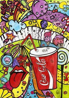 Coca-Coca pop art.