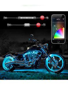 XK Glow 10 Pod 10 Strip App Control Motorcycle LED Accent Light Kit