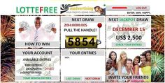 LOTTEFREE is the fun way playing a lottery for real prizes without spending any money. Simply register for free and you will receive 3 Free Entries. Invite your friends to play LOTTEFREE and receive 3 more Free Entries for every new player who registered using your personal reflink. If you run out of Free Entries you can collect free DEALPOINTs on other websites. Each DEALPOINT can be used to place another entry at LOTTEFREE http://www.lottefree.com/?refid=59526
