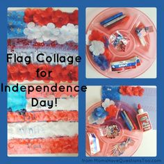 Fun Flag Craft for Indepence Day
