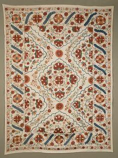 Quilt History Reports: Uzbek Suzani Needlework