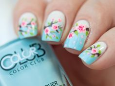 Spring Nails - Cherry Blossom Nails by Paulina's Passions