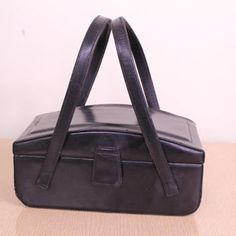 Shop Vintage Black Box Purse on Wanelo