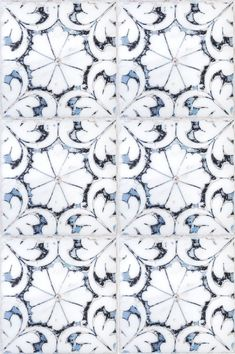 The Oasis Collection is a pattern by Artisan Stone Tile that features a looks like a watercolor painting. Pretty Patterns, Tile Patterns, Best Kitchen Design, Bathroom Floor Tiles, Modern Bathroom, Stone Tiles, Limestone Tile, Blue Tiles, Motif Floral