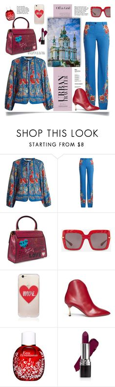 """Kiev travel outfits"" by faten-m-h ❤ liked on Polyvore featuring Roberto Cavalli, Dolce&Gabbana, Sonix, Valentino, Avon, American Apparel, ukraine, kiev and outfitsfortravel"