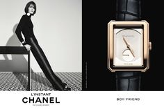 L'Instant #Chanel Boyfriend #watch #campaign