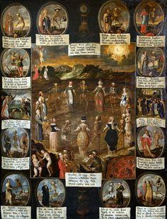 Dance of Death by Franciszek Lekszycki, 1660s (PD-art/old), Kościół oo. Bernardynów w Krakowie