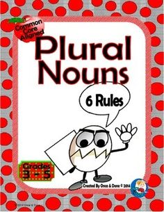 Plural Nouns Center Activity for small groups or independent literacy station work during guided reading. 50 words for students to change to plural. Includes:Title Page2 pages of words, 50 words in all2 different recording sheets     sort the word by the rules     write the word as a pluralAnswer key More Practice with Nouns:   Collective NounsCommon, Proper, and Collective NounsPlural, Possessive, Plural Possessive NounsPossessive Nouns This Center is Also Part of a Bundle:   Grammar, Unit…