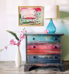 Multi Colored Miss Lucy Nightstand