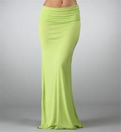 Neon Lime Maxi Skirt