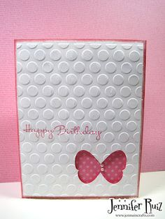 Jennuine Crafts: CAS Stampin' Up card