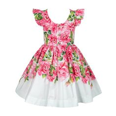 Vestido Floral Rosas Festa Cute Little Girl Dresses, Girls Dresses, Little Girl Fashion, Kids Fashion, African Dresses For Kids, Dolly Dress, Queen Fashion, Amelia Dress, Baby Dress
