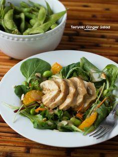organic girl teriyaki chicken salad with bok choy and mandarin oranges ohsweetbasil