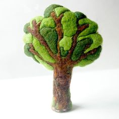Summer Tree: Handmade Wool and Silk Tree CUSTOM MADE (for Natural or Seasonal Table, Waldorf Inspired)
