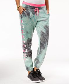Jessica Simpson The Warm Up Juniors' Tie-Dyed Jogger Pants