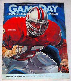 New England Patriots 1982 at Philadelphia Eagles - Veterans Stadium -  Features Hall of Fame Pats  guard John Hannah -  9.99 0a02abe18