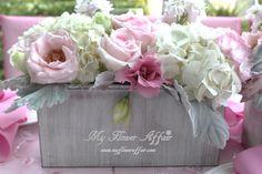 pink reception wedding flowers,  wedding decor, wedding flower centerpiece, wedding flower arrangement, www.myfloweraffair.com can create this beautiful wedding flower look.