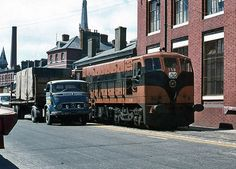 Cork City railway 1974 - 1 © The Carlisle Kid Street Run, Cork City, Ireland Homes, Dublin City, Diesel Locomotive, West End, Vintage Trucks, Carlisle, Ireland Travel