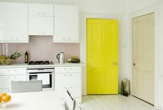 Bright yellow door #interior colour #interior accessories