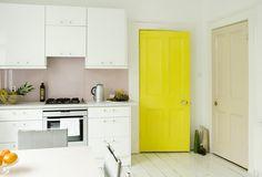 Bright yellow door #interior colour #interior accessories