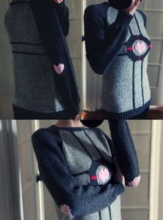 Hand Knit Companion Cube Sweater. CUTE.
