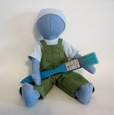 Blue anatomically correct doll by DollyMamaEugene on Etsy, $65.00