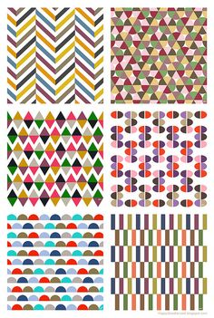 Love all these patterns, especially the colour choices in the triangle design xx