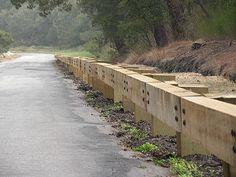 Timber guard rail