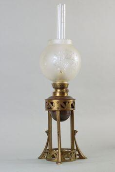 Secesyjna lampa naftowa stołowa (Niemcy ok.1920r) (6248917968) - Allegro.pl - Więcej niż aukcje.
